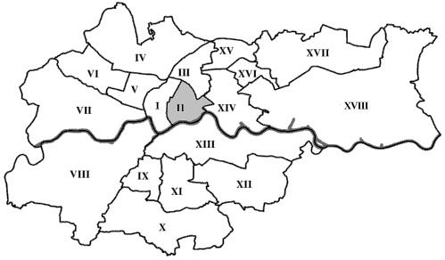 Mapa dzielnic Krakowa